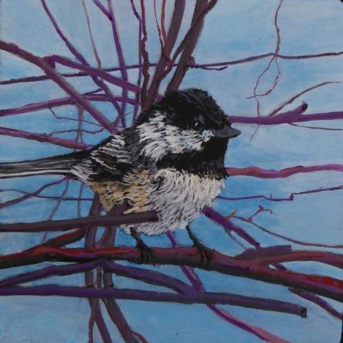Painting--Acrylic-AnimalsChickadee