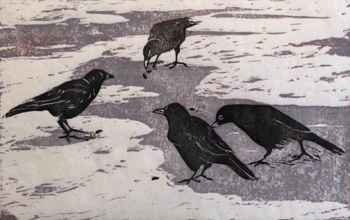 Crows on Ice by Pamela Garfield