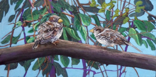 Two Sparrows (thumbnail)
