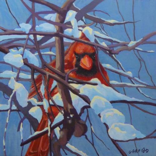 A Cardinal after the Snowfall