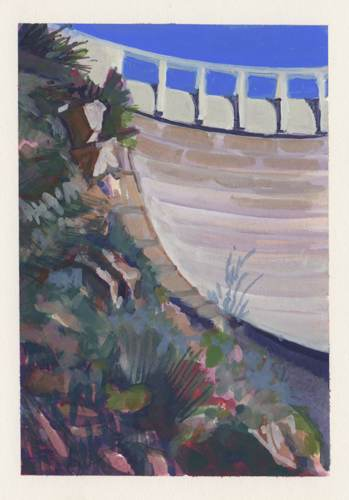 Backside, Juncal Dam