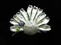Daisy Flower Brooch/ 2stone (thumbnail)
