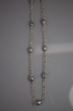 Silver Pearl Baroque Station Necklace (thumbnail)