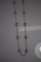 Violet Baroque Pearl Station Necklace (thumbnail)