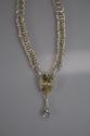 Fine Silver Pear Shape Yellow Labradorite & White Topaz Necklace (thumbnail)