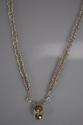 Hand woven Fine Silver Yellow Labradorite & White Topaz Necklace (thumbnail)
