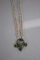 Hand woven Fine Silver Flashy Blue Madagascar Labradorite & Mystic Topaz Necklace (thumbnail)