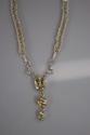 Yellow Labradorite & Citrine fine Silver Woven Necklace (thumbnail)