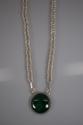 Malachite hand woven Fine Silver Necklace (thumbnail)