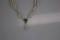 Green Labradorite Fine Silver hand woven necklace (thumbnail)