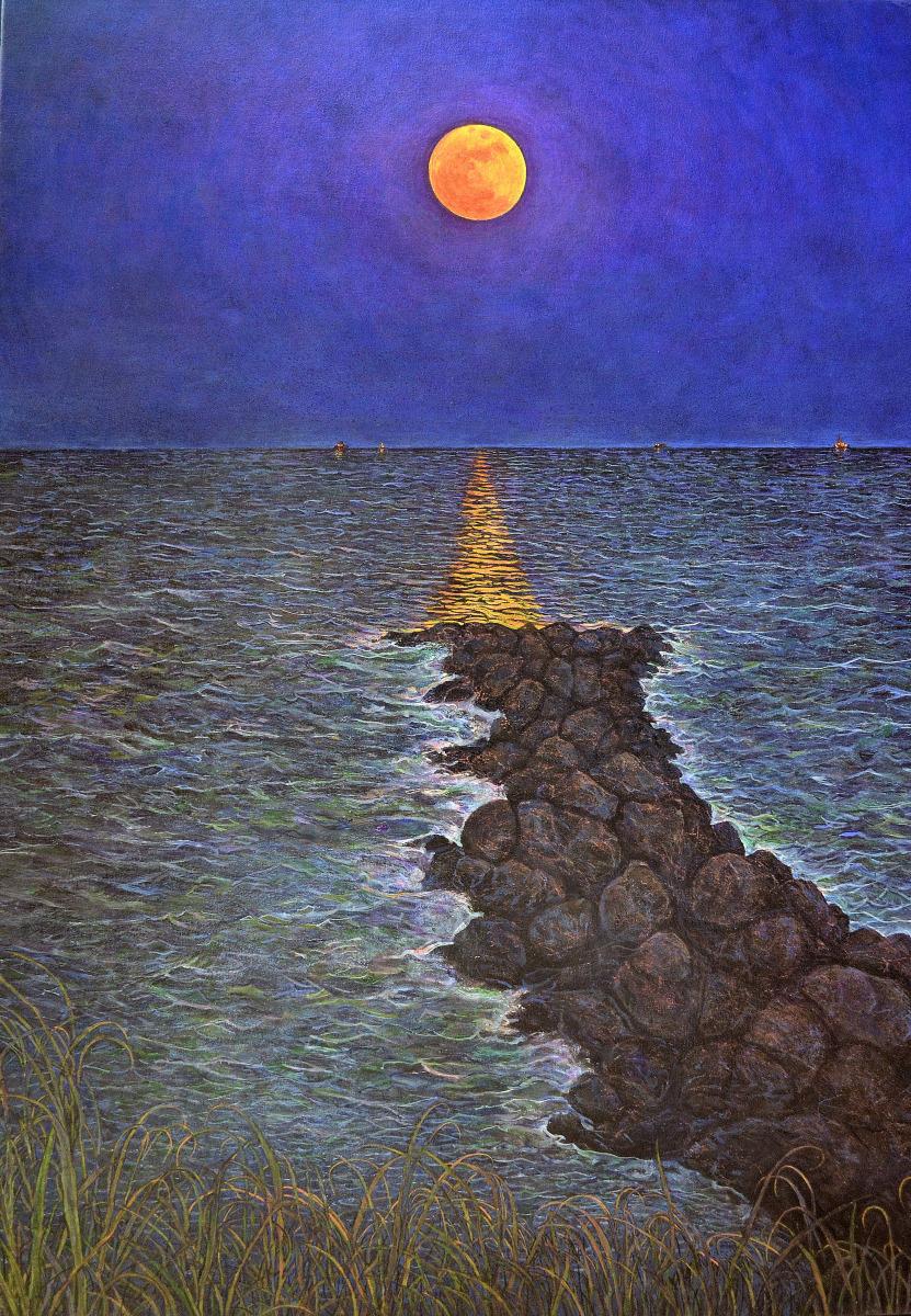 Carnelian Moon, Cocoa Beach (large view)