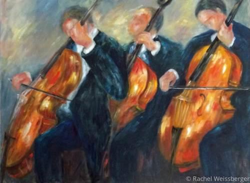 Three Cellists