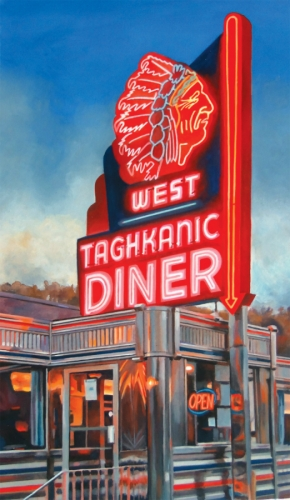 West Taghkanic Diner Sign by Richard Harrington