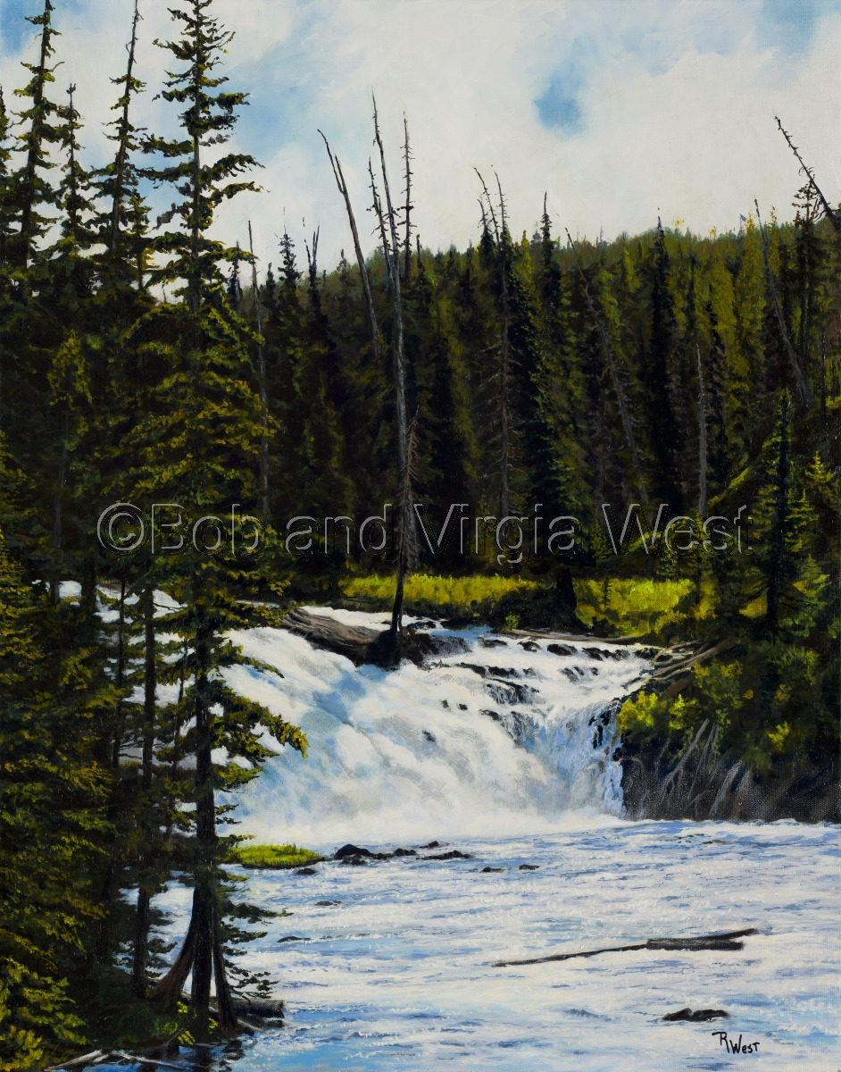 Alum Creek Falls, Yellowstone (large view)