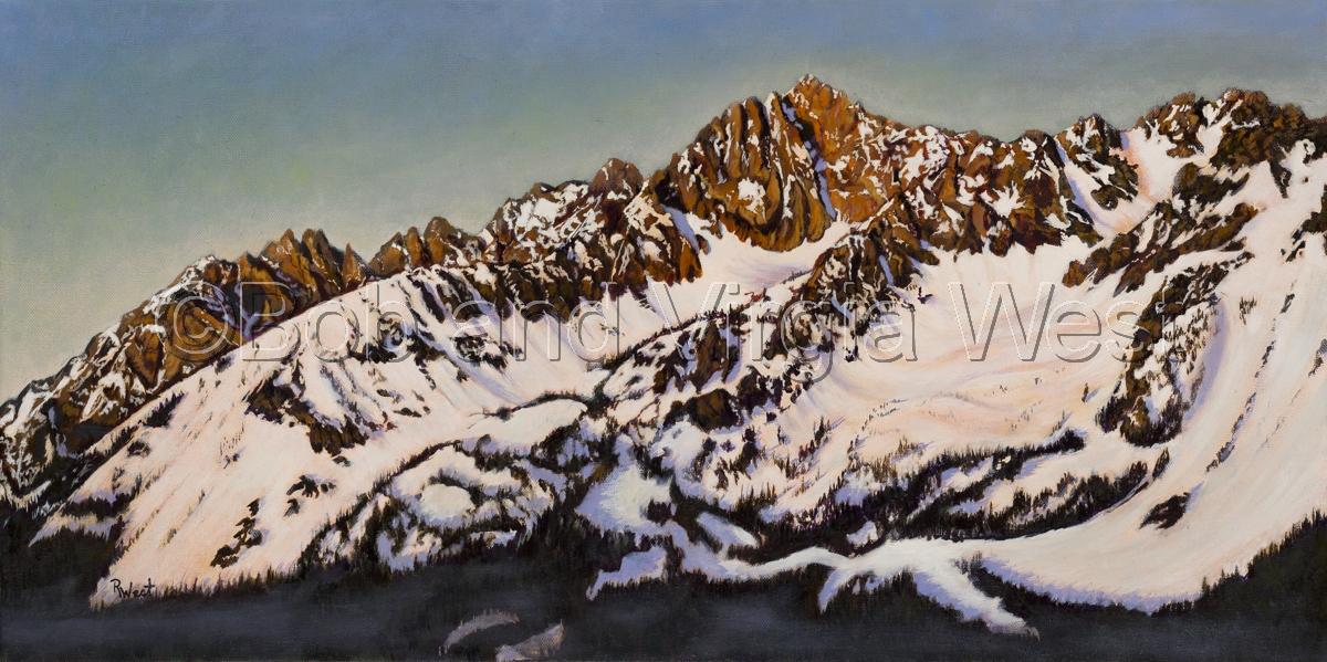 """Predawn Glow"" Sawtooth Mountains,ID (large view)"