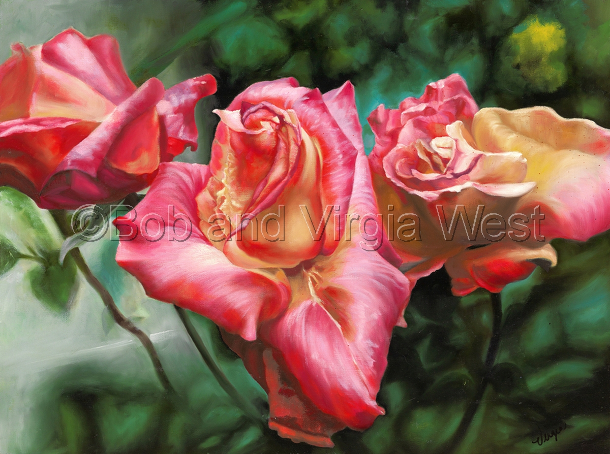 Patsy's Garden-Pink Rose (large view)