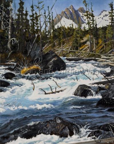 """Wilderness Stream"" by Rainbow Art--Virgia and Robert West"