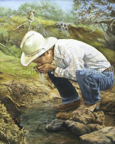 """The Cowboy Way"" Bennett Creek, ID (large view)"