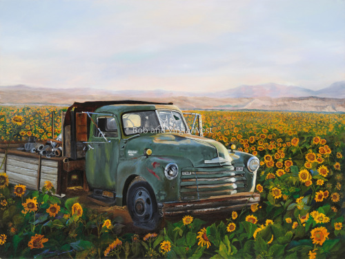 Grandaddy's Ole Green Truck by Rainbow Art--Virgia and Robert West