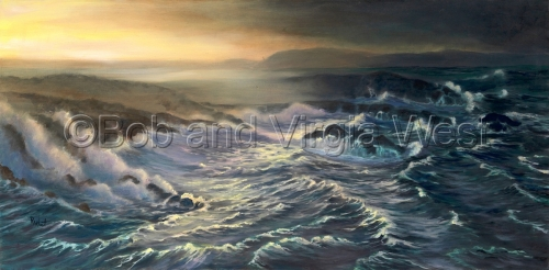 Storm Surge by Rainbow Art--Virgia and Robert West