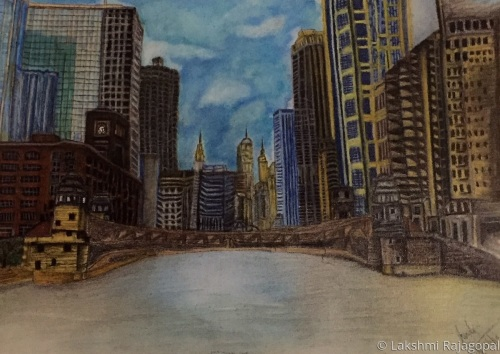 Chicago Cityscape by Lakshmi Rajagopal