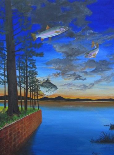 Morning on the lake - Original formerly featured at Millard Sheets Gallery