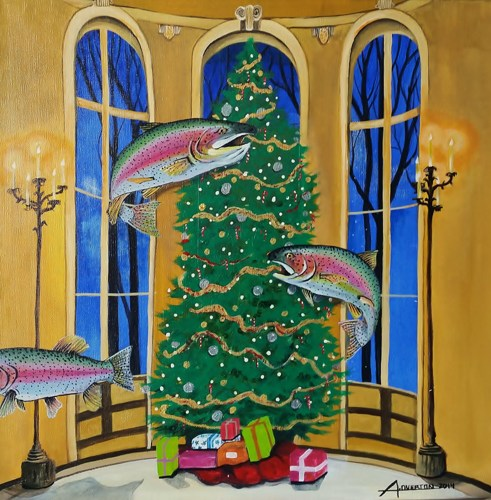 Christmas Fish - SOLD