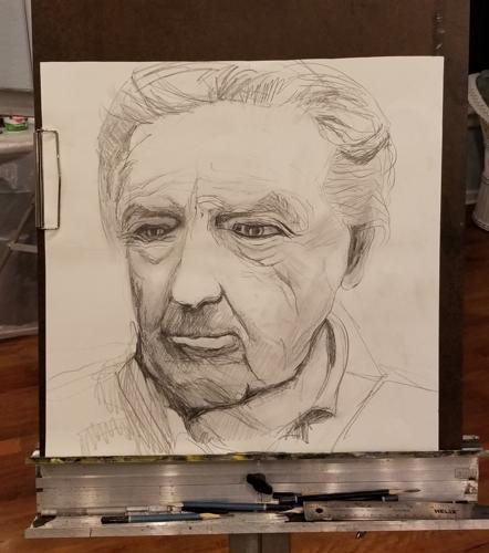 pencil portrait study