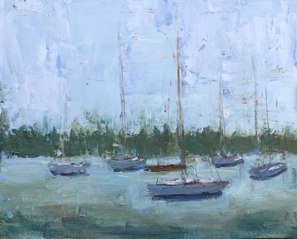 Sailboats near Bradenton Beach (large view)