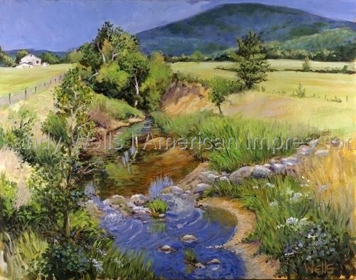 Creek Through Jones Valley by Randy Wells | American Impressionism