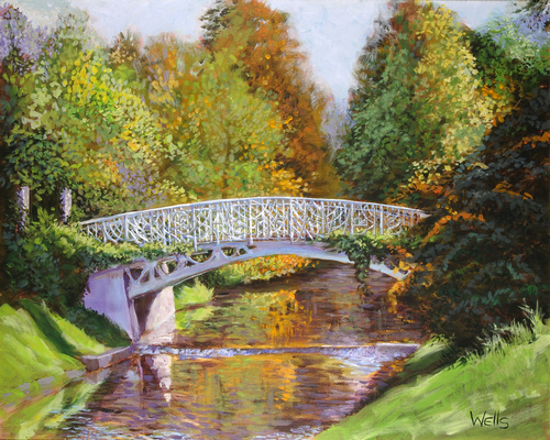 Bridging Summer and Fall by Randy Wells | American Impressionism