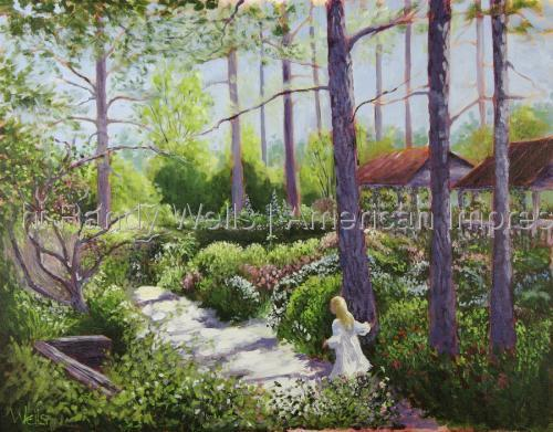 Floral Forest Fantasy by Randy Wells | American Impressionism