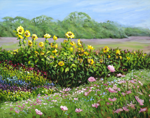 Field of Flowers by Randy Wells | American Impressionism