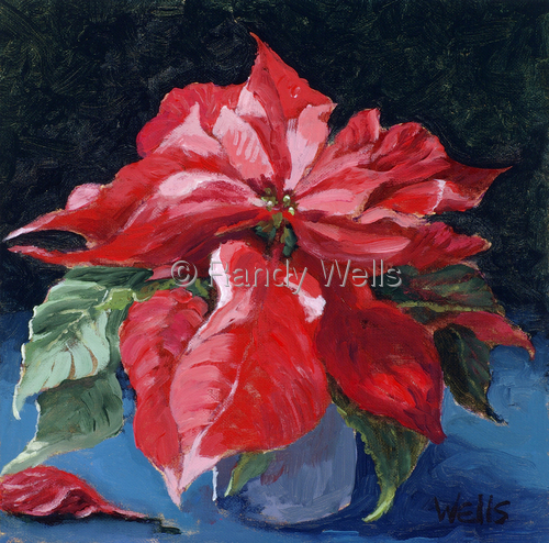 April's Poinsettia by Randy Wells | American Impressionism