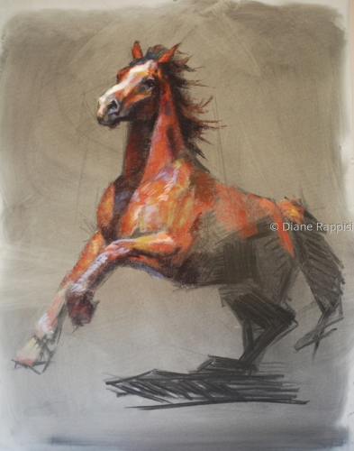 Study of a Horse by Diane Rappisi