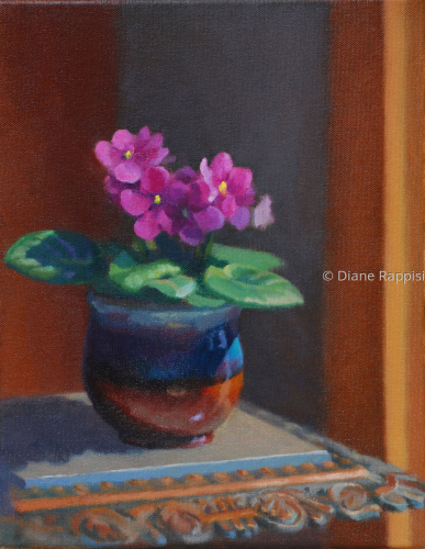 African Violet by Diane Rappisi Fine Art
