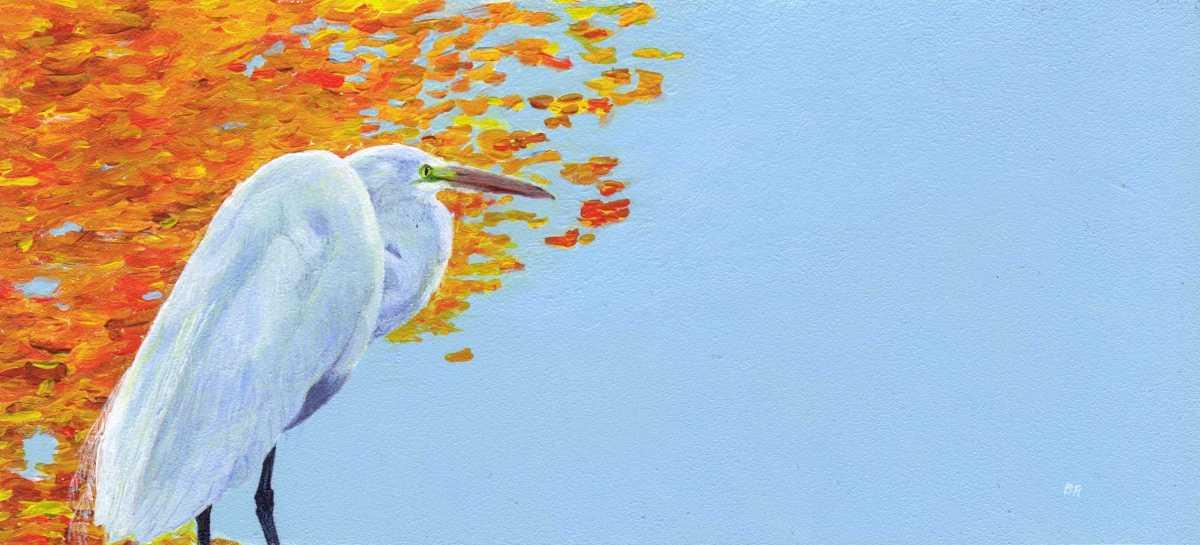 Lakeside Egret (large view)