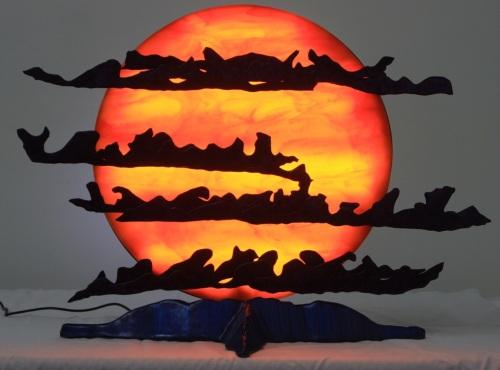 Aldebaron Rising - Lighted Sculpture by Raving Medusa Productions, LLC