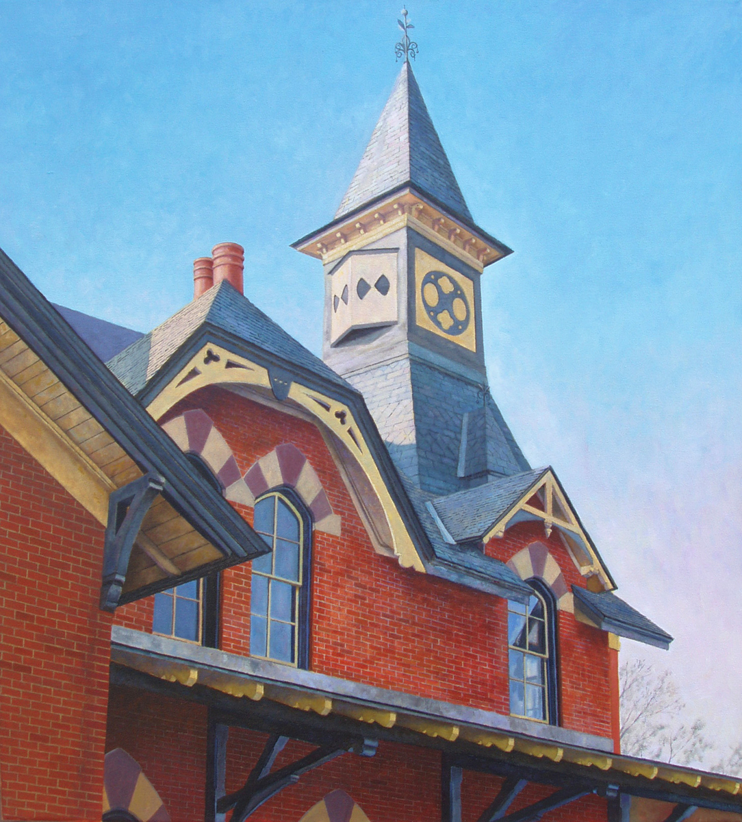 Cityscape Oil Paintings Point Of Rocks Station By Raymond