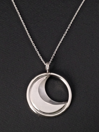 Crescent Moon Pendant - light