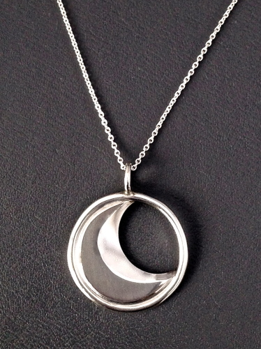 Crescent Moon Pendant - dark