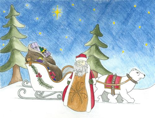 Santa with Bear (large view)