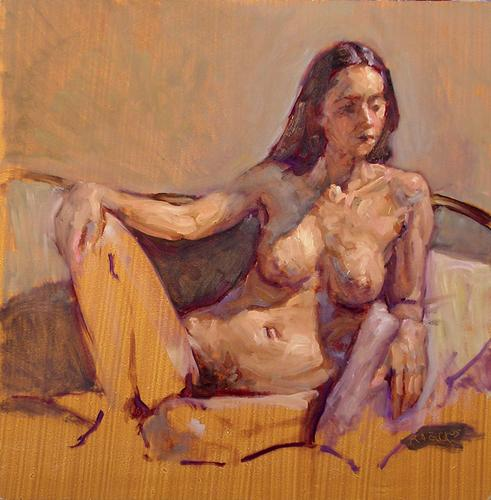 Nude Seated on Couch (large view)