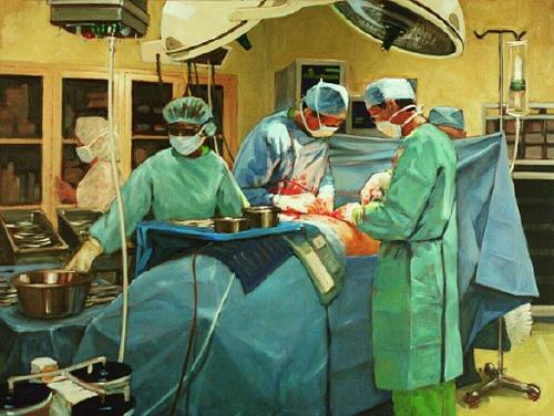 Drs. Ruenes and Flashner in Surgery (large view)