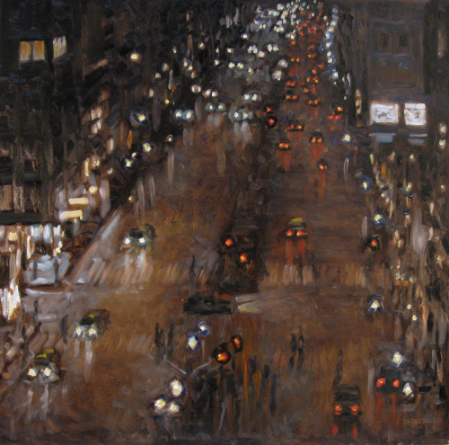 Broadway, above Columbus by ROBERT   BECK