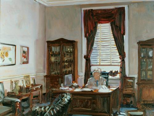 Congressman Greenwood in His Office (large view)