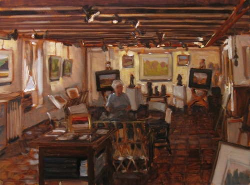 Janet Hunt in Her Gallery (large view)
