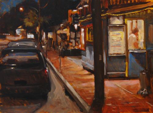 John & Peters, night by ROBERT   BECK