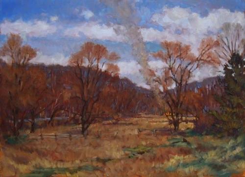 Burning Brush, Carversville (large view)