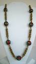 Turquoise and Coral Necklace (thumbnail)